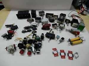 Huge Lot Of Toggles Push Buttons Micro Switches New And Used