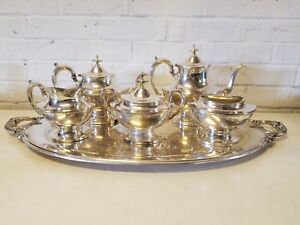 Vintage Reed Barton Silver Plated Tea Set Epns With Stamped P Initial