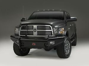 Fab Fours Dr06 s1161 1 Pc Blk Steel Frt Ranch Bumper 2006 09 Dodge Ram 2500 3500