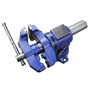 Heavy Duty Bench Vise Forged 360 Swivel Base With Lock Anvil Top 5