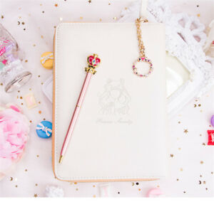 Princess Serenity Sailor Moon Planner Schedule Notebook Diary Pen Anime Student