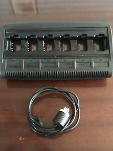 Motorola Wpln4197a Impres 6 unit Charger With Power Cord