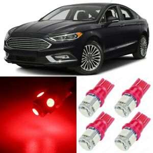 12 X Ultra Red Interior Led Lights Package For 2013 2018 Ford Fusion tool