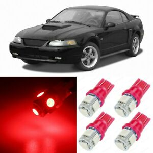 8 X Ultra Red Interior Led Lights Package For 1994 2004 Ford Mustang Tool