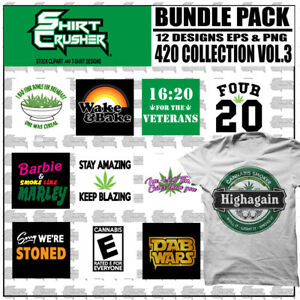 420 Vol3 vector T shirt Design Clipart Screen Print Vinyl Cutter Eps Png