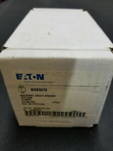 Eaton Cutler Hammer Ghb3070 Circuit Breaker Thermal Magnetic 3p 70a New In Box