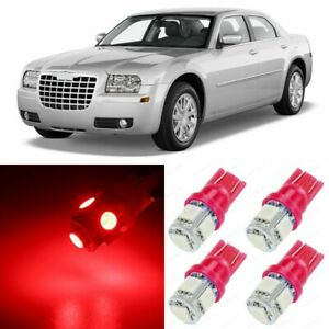 17 X Red Interior Led Lights Package For 2005 2010 Chrysler 300 300c tool