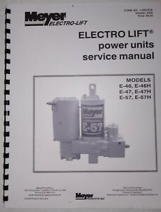 Meyer Snow Plow Pump Service Manual E47 E57 E46 H Models W Color Flow Charts