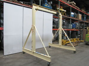 Gantry Crane 1000lb 1 2 Ton Capacity 8 Span 9 To 11 Adjustable Hub
