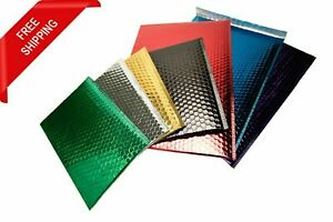 Metallic Glamour Bubble Mailers Padded Envelopes Bags In Assorted Size