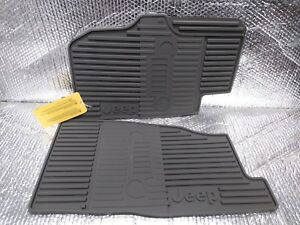 Jeep Liberty 2003 2004 Front Floor Mats Gray Rubber Oem 82207357ac