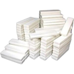 100 White Jewelry Bracelet Watch Cotton Display Gift Boxes 8