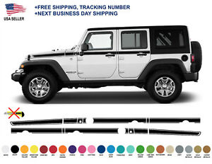 0401 Jeep Wrangler Rubicon Recon Chief Stripes Decal Graphic Jk Jku Side Vinyl