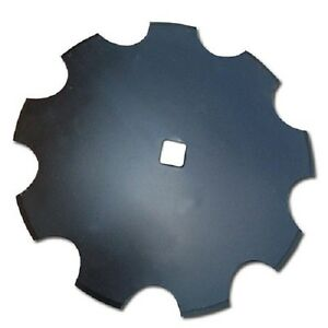 4 Pack Disc Harrow Blade 14 Notched Fits 1 Square Axle Fits Many Brands