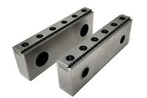 Mechdynamic Cnc Milling Steel Vise Hard Jaw 6 Wide Serrated With 0 100 Step