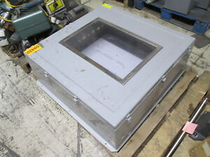 Hoffman Fiberglass Nema 3r 4x 12 13 Enclosure A36h3612gqrlp W Window Used