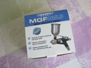 Sharpe Mgf Hvlp Gravity Feed Touch Up Spray Gun With 4 Oz Cup Free Ship new