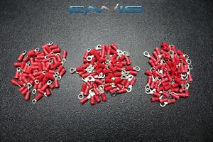 600 Pk 18 22 Gauge Awg Vinyl Ring Connectors 200 Pcs Ea Terminal Crimp 6 8 10