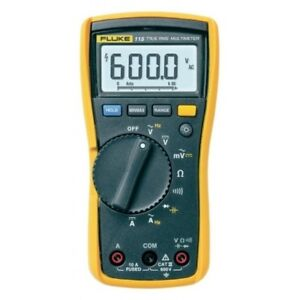 Genuine Fluke 115 Digital Handheld Hvac Multimeter True Rms Cat Iii 600 V Uk