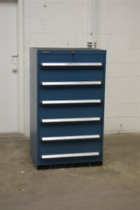 Used Kennedy 6 Drawer Cabinet 51 Inch Tall Industrial Tool Storage 1206 Vidmar