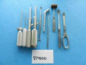 Zimmer Richards Jarit Surgical Orthopedic Instruments Lot Of 10