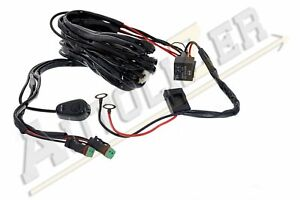 Led Bar Wiring Harness Kit 12v 40a Fuse Relay On Off Switch Controls 2 Lights