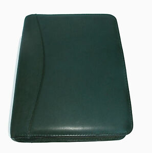 Franklin Quest Green Nappa Leather Vintage Usa Rare Compact Planner Binder