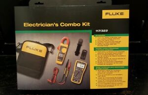New Fluke 117 323 Multimeter And Clamp Meter Combo Kit Free Shipping