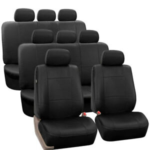 3 row Pu Leather Seat Covers For Suv Van Full Interior Seat Covers Set