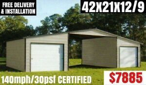 Metal Building Carport Rv Cover Pole Barn Steel Garage Utility Shed Car Canopy