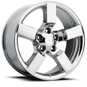 4 20 Chrome Lightning Style Wheels Fits 1967 To 1996 Ford F150 Rim Set