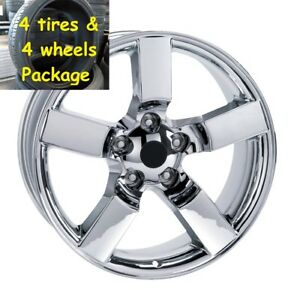 4 20 Tires Chrome Lightning Style Wheels Package Fit 1967 1996 Ford F150 Set