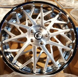 22 Forgiato Blooco Satin Staggered 2 piece Wheels 5x130 Porsche Panamera