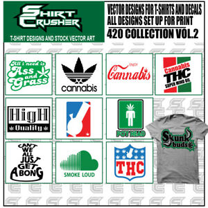420 Vol2 vector Clipart Screen Print Vinyl Cutter Eps Tshirt Designs Cd