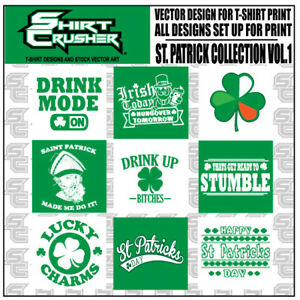 St patrick s Day vector T shirt Design Clipart Screen Print Vinyl Cutter