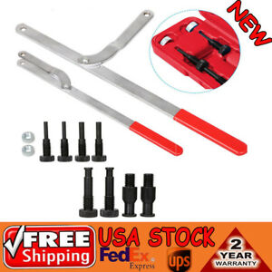 Universal Pulley Holder Spread Interchangeable Pin Fan Clutch Wrench Tool Set