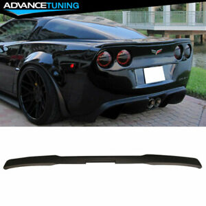 Fits 05 13 Corvette C6 Zr1 Oe Factory Flush Mount Matte Black Trunk Spoiler