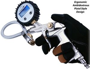 Geartronics Digital Tire Inflator Pressure Gauge With Air Chuck And Hose Air Pre