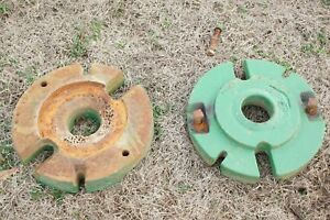 Original John Deere Tractor M Mt 40 420 Cast Rear Wheel Weight Pair Set M343t
