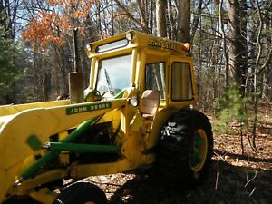 John Deere 401a Industrial Tractor Loader Ballast heated Cab third Owner