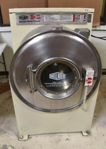 Milnor 35 Lb Commercial Front Load Coin Operated Washer Used