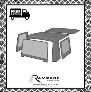Rampage 99435 Factory Replacement Soft Top 1988 1995 Jeep Wrangler Yj