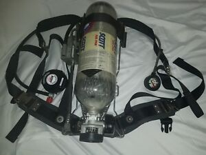 Scott Air pak Industrial Scba Iscba 4500 Psi Air Luxfer Tank With Mask 2010
