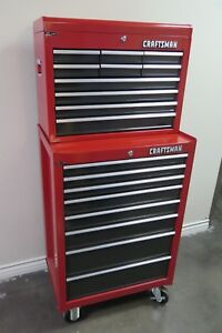 Craftsman Tool Box Combo 12 Drawers Chest Storage Cabinet On Wheels