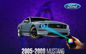 Ford Mustang Headlights Halo Kit Rgb Led With Remote 05 06 07 08 09