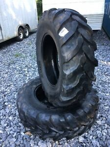 2 New 16 9 28 Backhoe Tires R4 12 Ply 16 9x28