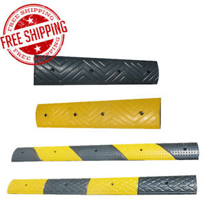 Rubber Speed Bump Hump Dividing Line Slow Safety Outdoor Garage Home Parking