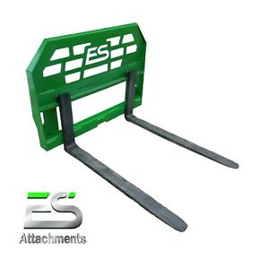 Es 48 John Deere Pallet Forks Quick Attach Powder Coated Green Local Pick up