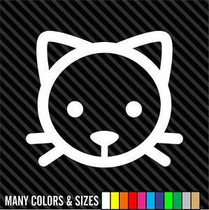 Cat Decal Sticker Car Decal Laptop Decal Choice Of Colors Sizes
