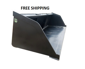 New Powder Coated 96 Snow mulch dirt gravel Bucket For Skid Steer Free Shipping